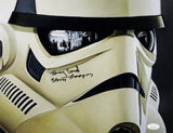 Tony Smith Autographed 11x14 Mask Close Up Photo w/ Stormtrooper- JSA Auth *Black