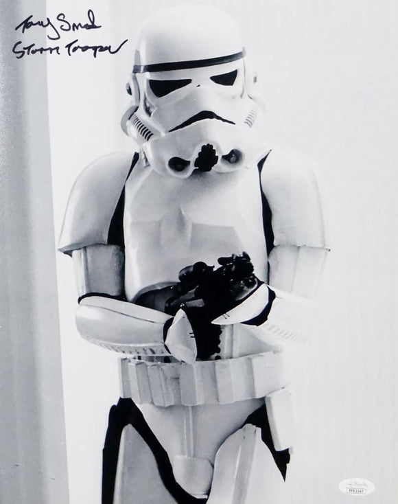Tony Smith Autographed 11x14 Photo From Movie w/ Stormtrooper - JSA Auth *Black