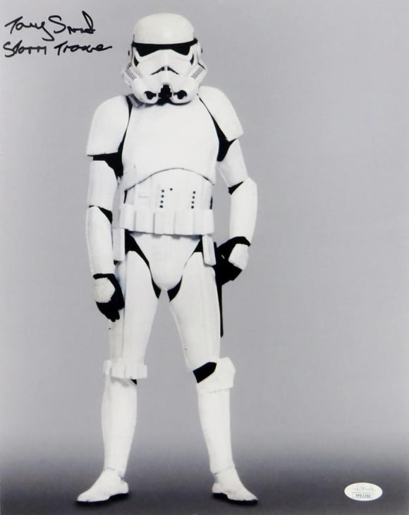 Tony Smith Autographed Full Body 11x14 Photo w/ Stormtrooper - JSA Auth *Black