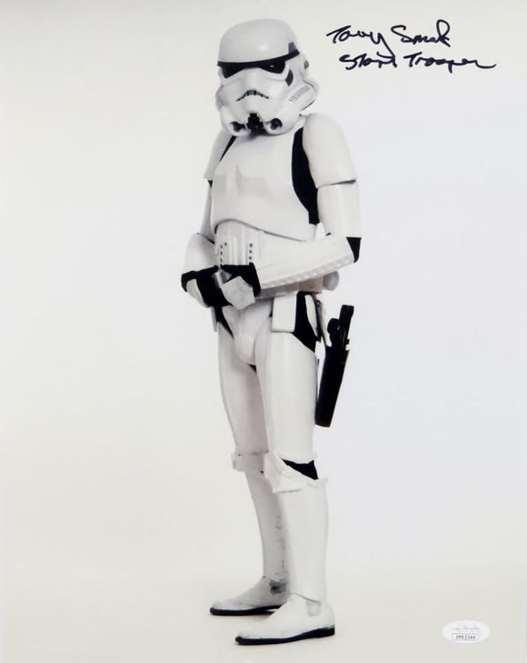 Tony Smith Autographed Sideways Full Body 11x14 Photo w/ Stormtrooper - JSA Auth *Black