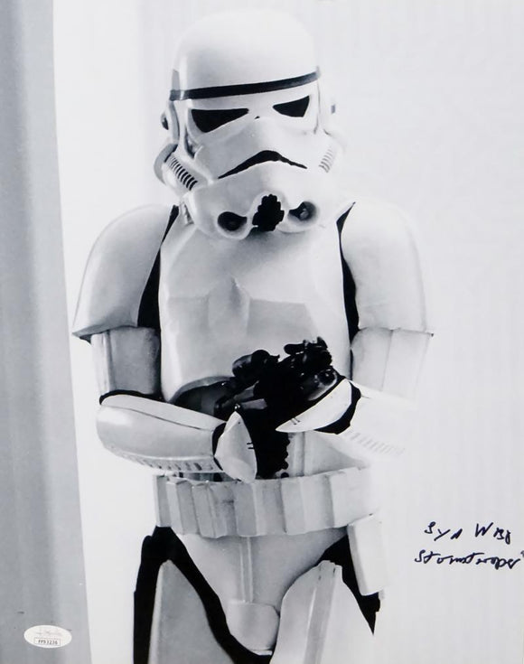 Syd Wragg Autographed 11x14 Photo From Movie w/ Stormtrooper - JSA Auth *Black