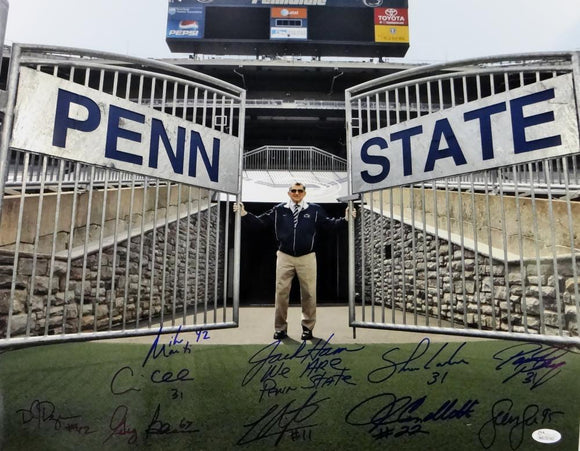 Penn State Autographed 16x20 With Scoreboard Photo- JSA W Auth