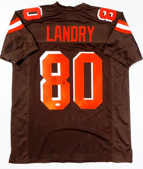 Jarvis Landry Autographed Brown Pro Style Jersey - JSA W Auth *8
