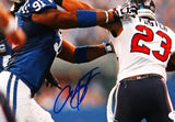 Arian Foster Autographed Texans 8x10 Against Colts Photo- JSA W Auth *Blue