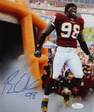 Brian Orakpo Autographed Redskins 8x10 Yelling Photo- JSA W Authenticated