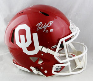 Baker Mayfield Signed Oklahoma Sooners Speed ProLine Helmet w/ HT -Beckett Auth *Silver
