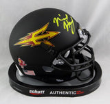 N'Keal Harry Autographed Arizona State Black Mini Helmet- Beckett Auth *Front