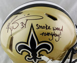 Ricky Williams Autographed New Orleans Saints F/S Speed Authentic Helmet w/SWED - JSA W Auth *