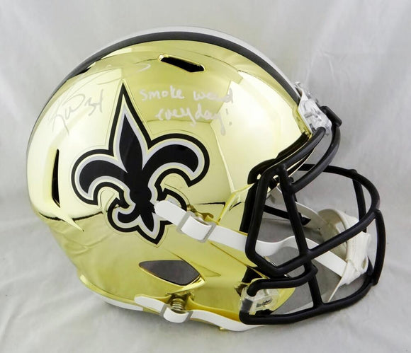 Ricky Williams Autographed New Orleans Saints Chrome F/S Helmet w/ SWED- JSA W Auth *