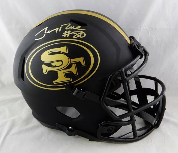 Jerry Rice Autographed San Francisco 49ers F/S Eclipse Speed Helmet- Beckett Auth *Gold