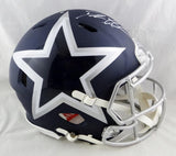 Deion Sanders Autographed Dallas Cowboys F/S AMP Speed Authentic Helmet-Beckett Auth *White
