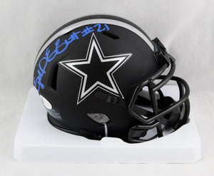 Ezekiel Elliott Autographed Dallas Cowboys Eclipse Mini Helmet - Beckett W Auth *Blue