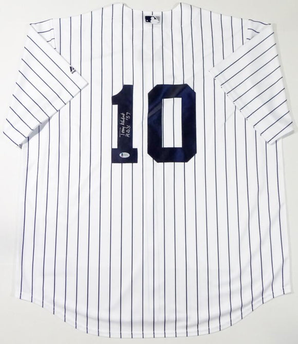 Tony Kubek Autographed New York Yankees P/S Jersey W/ ROY - Beckett Auth *1