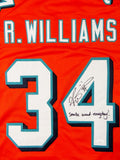 Ricky Williams Autographed Orange Pro Style Jersey w/ SWED - JSA W Auth *4