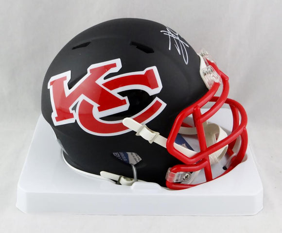 Travis Kelce Autographed Kansas City Chiefs AMP Speed Mini Helmet - Beckett W Auth *White