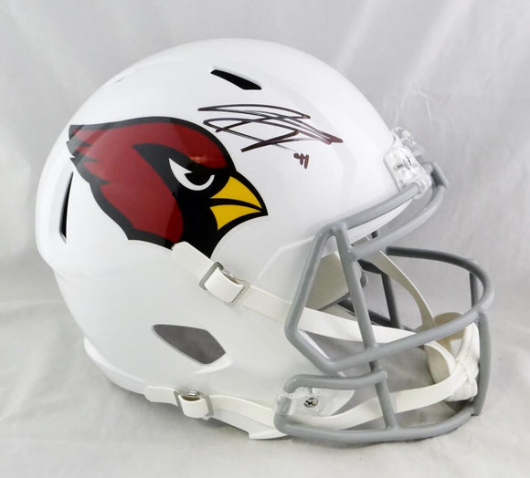 Kenyan Drake Autographed Arizona Cardinals F/S Speed Helmet - Beckett Auth *Black