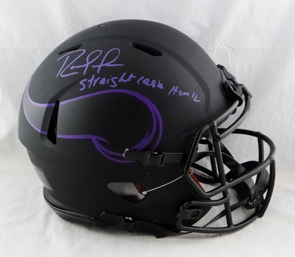 Randy Moss Autographed Vikings F/S Eclipse Speed Authentic Helmet w/Insc- Beckett W Auth *Purple