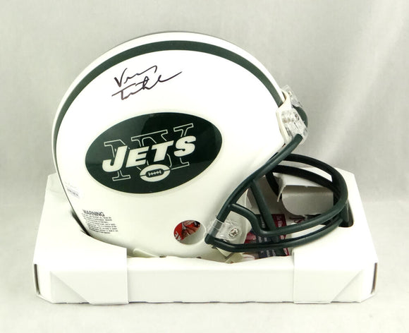 Vinny Testaverde Autographed New York Jets Mini Helmet- JSA W Authenticated