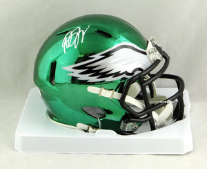 Desean Jackson Autographed Philadelphia Eagles Chrome Speed Mini Helmet- JSA W Auth *White