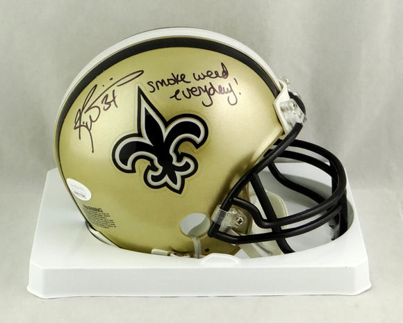 Ricky Williams Autographed New Orleans Saints Mini Helmet w/ SWED - JSA W Auth *Black