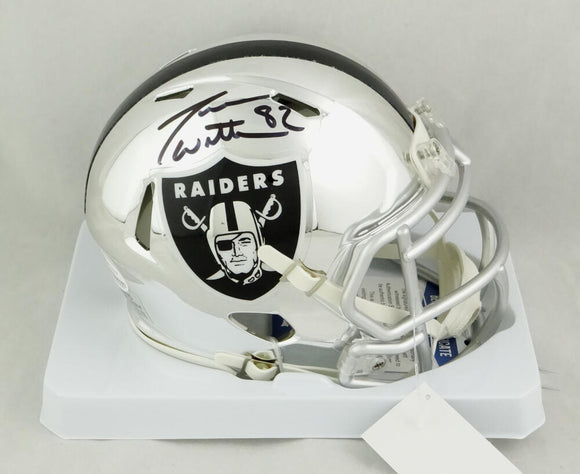 Jason Witten Autographed Las Vegas Raiders Chrome Mini Helmet- Beckett Auth *
