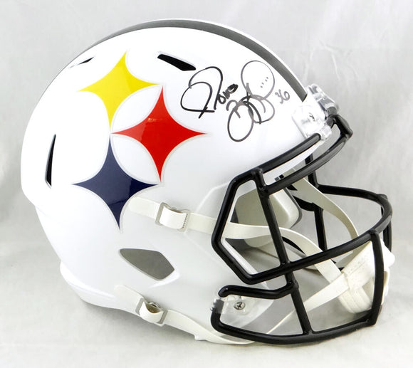Jerome Bettis Autographed Pittsburgh Steelers F/S AMP Speed Helmet - Beckett W Auth *White