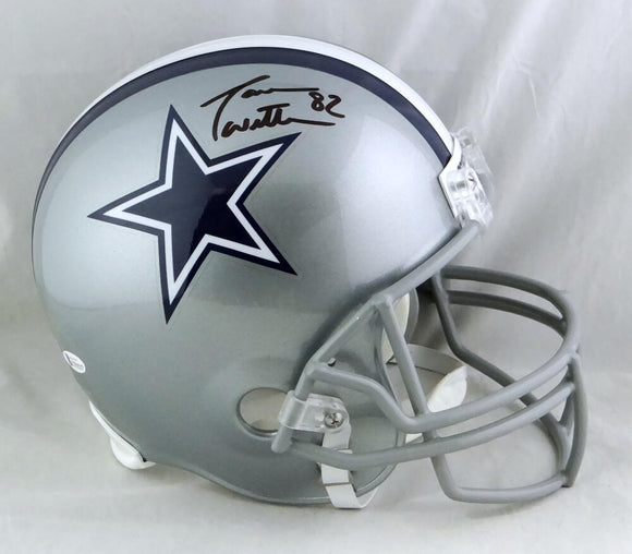 Jason Witten Autographed Dallas Cowboys Full Size Helmet - Beckett W Auth *Black