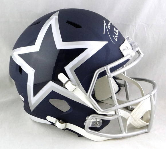 Jason Witten Autographed Dallas Cowboys F/S AMP Speed Helmet - Beckett W Auth *White