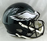 Miles Sanders Autographed Eagles Full Size Speed Helmet - JSA W Auth *White