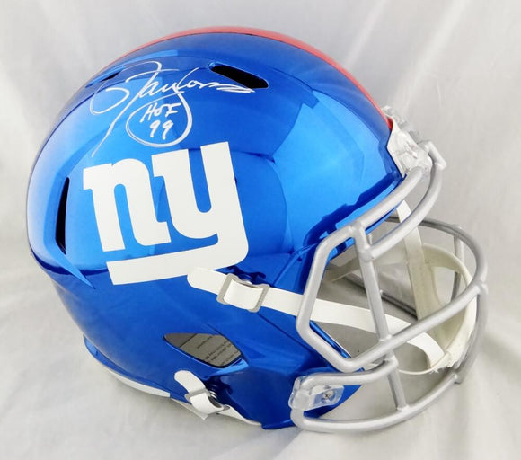 Lawrence Taylor Autographed New York Giants F/S Chrome Helmet w/ HOF - Beckett W Auth *White