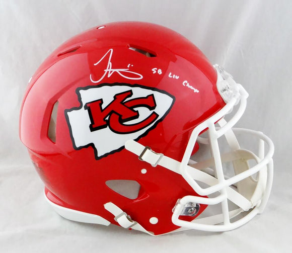 Tyreek Hill Autographed KC Chiefs F/S Speed Authentic Helmet w/ Insc - JSA W Auth *White