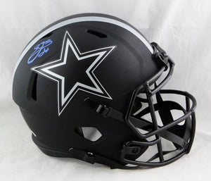 Emmitt Smith Autographed F/S Dallas Cowboys Eclipse Speed Helmet- Beckett W Auth *Blue