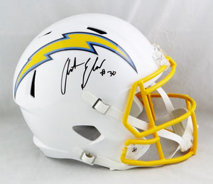 Austin Ekeler Autographed F/S Los Angeles Chargers Speed Helmet - Beckett W Auth *Black