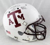 Johnny Manziel Autographed Texas A&M White Schutt F/S Authentic Helmet W/ 3 Insc- JSA W Auth *White