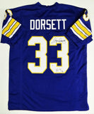 Tony Dorsett Autographed Blue College Style Jersey w/ Heisman - Beckett W Auth *R3