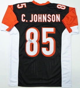 Chad Johnson Autographed Black Pro Style Jersey - JSA W Auth *8