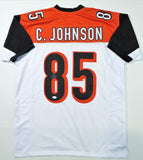 Chad Johnson Autographed White Pro Style Jersey - JSA W Auth *8