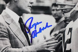 Roger Staubach Autographed Cowboys 8x10 with Tom Landry Photo- Beckett Auth *Blue