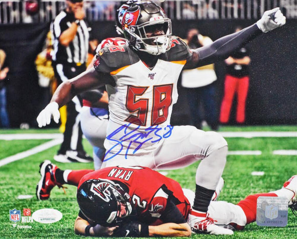 Shaquil Barrett Autographed Tampa Bay 8x10 FP Over Ryan Photo- JSA W Auth *White
