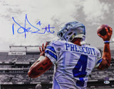 Dak Prescott Signed Dallas Cowboys 16x20 Spotlight PF Photo- Beckett Auth *Blue
