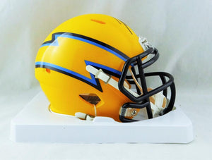 Joey Bosa Autographed Los Angeles Chargers AMP Speed Mini Helmet - Beckett W Auth *Black