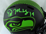 DK Metcalf Autographed Seattle Seahawks Eclipse Mini Helmet - Beckett W Auth *Green