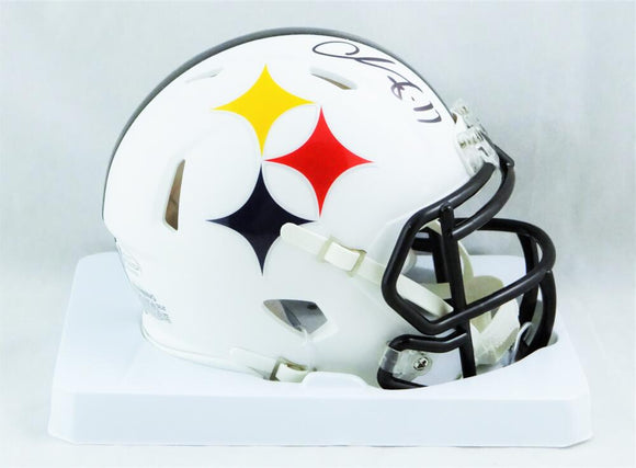 Chase Claypool Autographed Pittsburgh Steelers AMP Mini Helmet - Beckett W Auth *Black