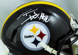 TJ Watt Autographed Pittsburgh Steelers Speed Mini Helmet - JSA W Auth *White