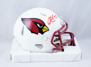 Kyler Murray Autographed Arizona Cardinals Flat White Mini Helmet - Beckett W Auth *Red