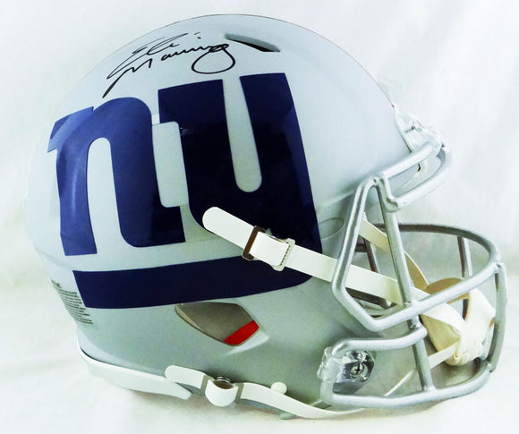Eli Manning Autographed New York Giants F/S AMP Speed Authentic Helmet - Fanatics Auth *Black
