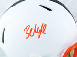Baker Mayfield Autographed Cleveland Browns F/S Flat White Authentic Helmet - Beckett W Auth *Orange
