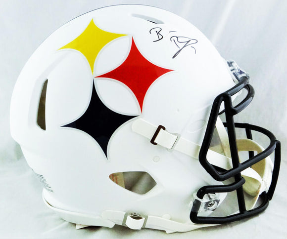 Ben Roethlisberger Autographed Pittsburgh Steelers F/S AMP Authentic Helmet - Fanatics Auth *Black