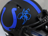 Reggie Wayne Autographed Indianapolis Colts Eclipse Speed Mini Helmet - Beckett W Auth *Blue