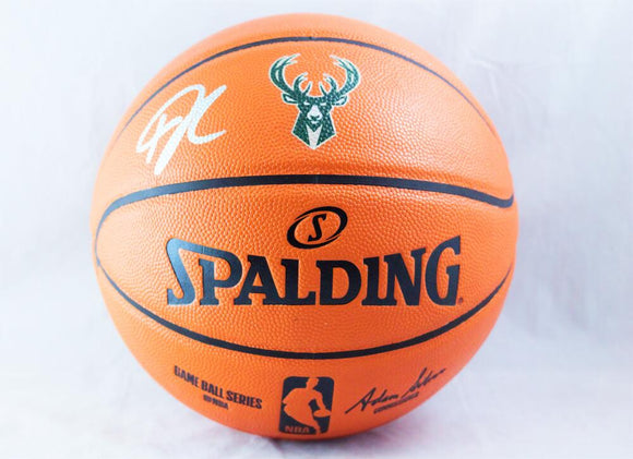 Giannis Antetokounmpo Autographed NBA Official Basketball - JSA W Auth *Silver